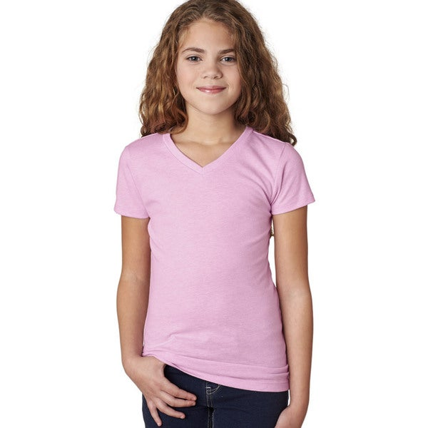 Next Level Girls' Lilac The Adorable CVC V-Neck T-Shirt