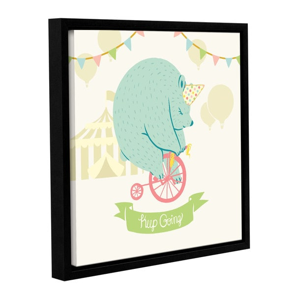 Cleonique Hilsaca' s Little Circus Bear ' Gallery Wrapped Floater-framed Canvas