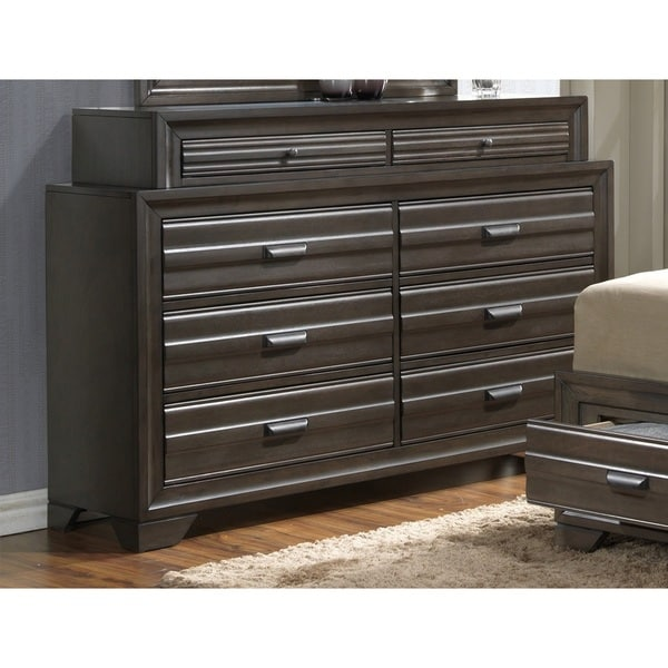 LYKE Home Eden Slate 8-drawer Dresser