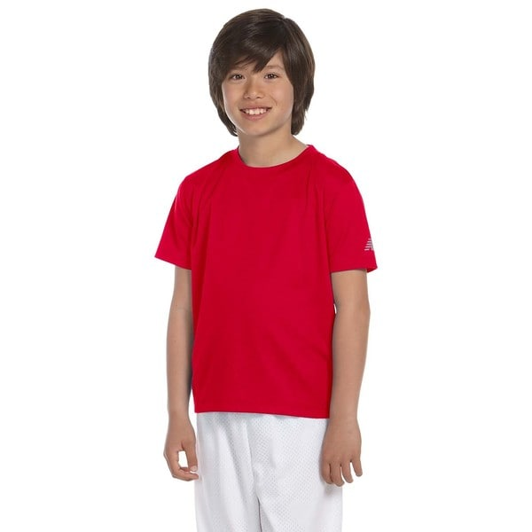 Ndurance Boys' Cherry Red Cotton Athletic T-shirt