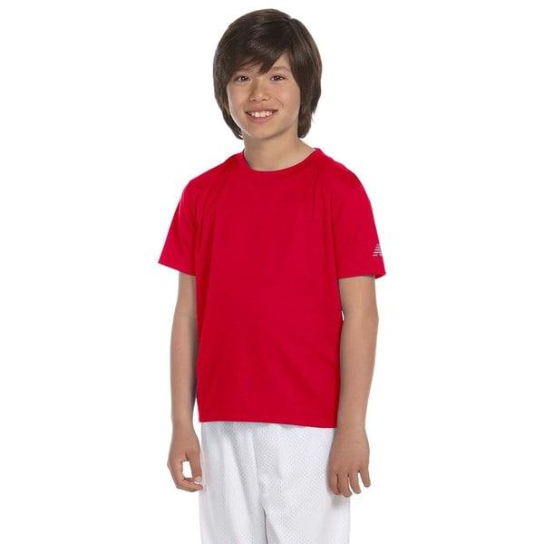 Ndurance Boys' Cherry Red Cotton Athletic T-shirt