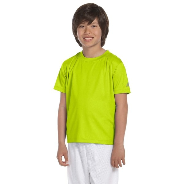 Ndurance Boys Green Athletic Safety T-shirt