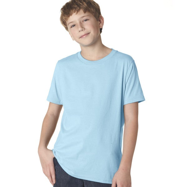 Next Level Boys' Light Blue Premium Short-sleeve Crew T-shirt
