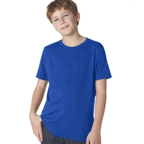 Next Level Boys' Premium Royal Blue Cotton Short-Sleeve Crew T-Shirt