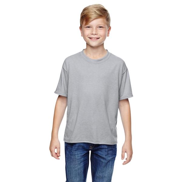 Jerzees Boys' Silver Cotton Sport T-Shirt