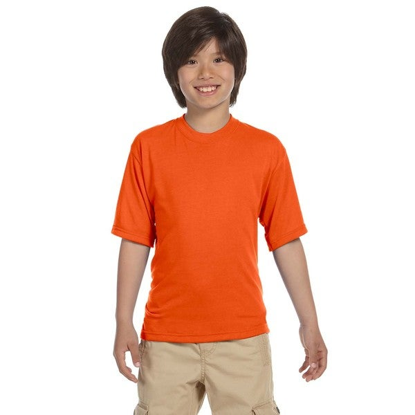 Jerzees Boys' Safety Orange Cotton Sport T-shirt