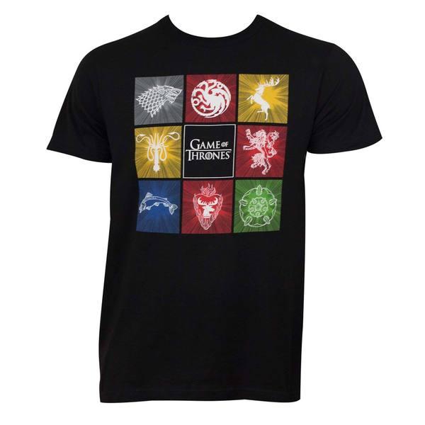 Men's 'Game Of Thrones' Black Squares T-shirt