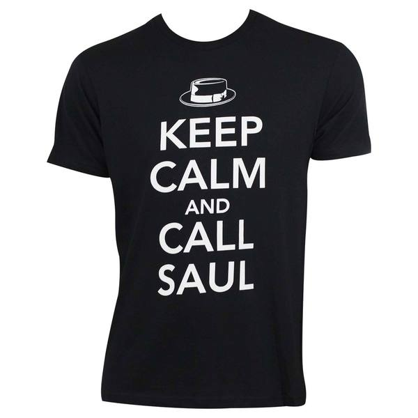 'Better Call Saul' Men's Call Saul Black Cotton T-shirt