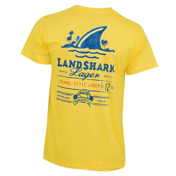 Men's Landshark Yellow Painted T-shirt