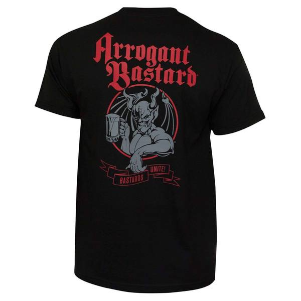 Arrogant Bastard Unite Black Cotton T-shirt