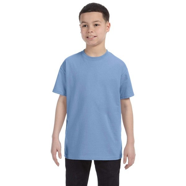Boys' Heavyweight Blend Light Blue Cotton T-Shirt