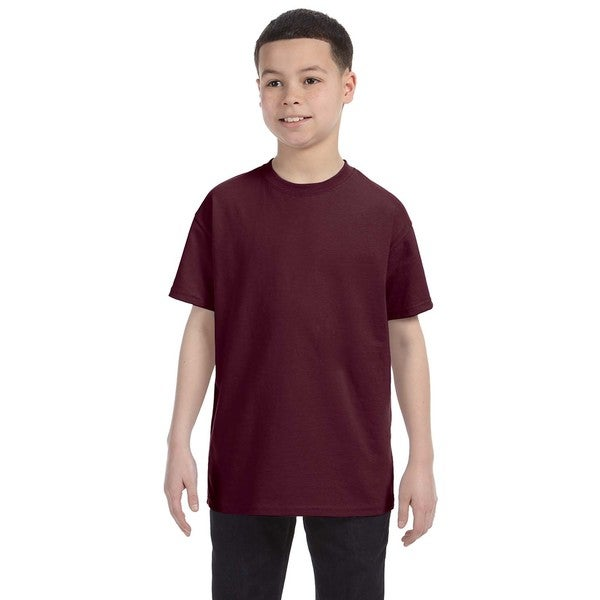 Heavyweight Blend Boys' Maroon T-shirt