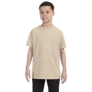 Boys' Sandstone Heavyweight Cotton and Polyester Blend T-Shirt
