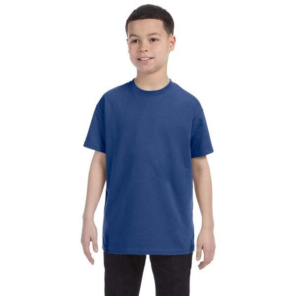 Boys' Vintage Heather Blue Heavyweight Blend T-shirt