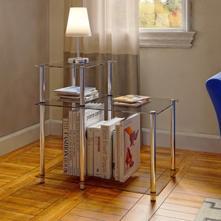 Porch & Den Japonica 3-tier Glass End Table