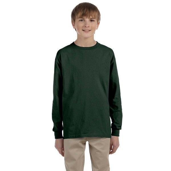 Boys Green Heavyweight Long-sleeve T-shirt