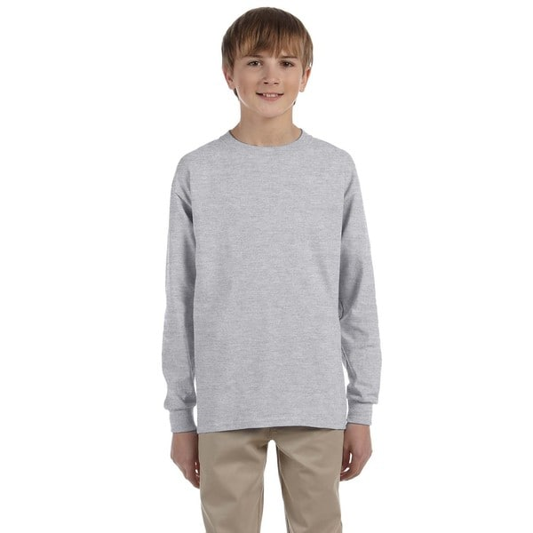 Boys' Oxford Heavyweight Blend Long-sleeve T-shirt