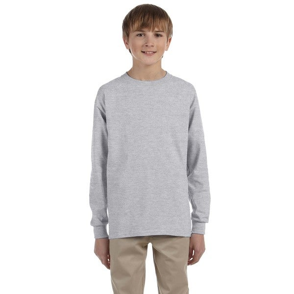 Boys' Oxford Heavyweight Blend Long-sleeve T-shirt