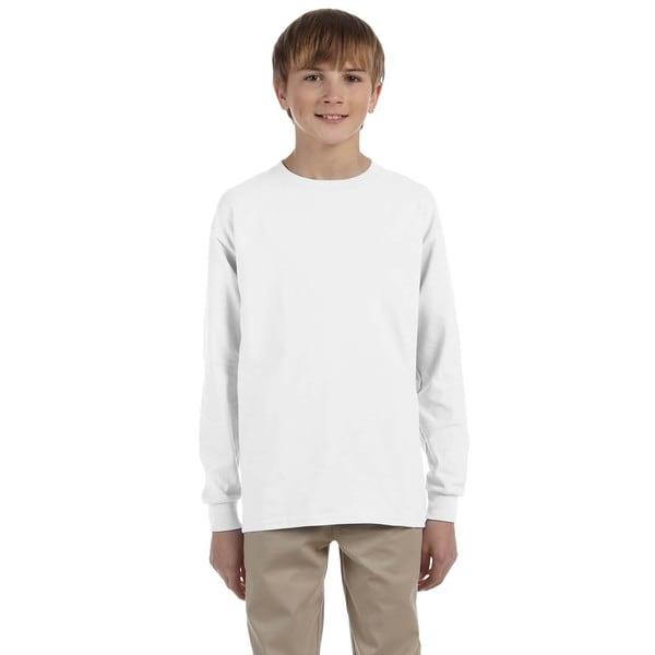 Heavyweight Blend Boys' White Long-Sleeve T-Shirt