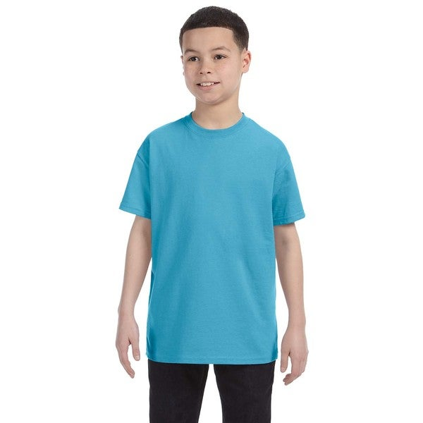 Boys' Aquatic Blue Heavyweight Blend T-shirt
