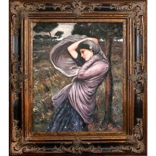 John William Waterhouse 'Boreas' Hand Painted Framed Canvas Art