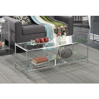 Convenience Concepts Royal Crest Glass Coffee Table