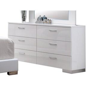 Lorimar White 6-drawer Dresser