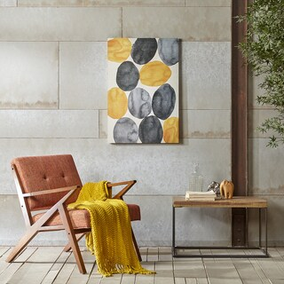INK+IVY Amber Puzzle Yellow Gel Coat Printed Canvas