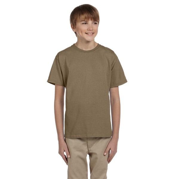 Fruit Of The Loom Boys' Safari-colored Heavy Cotton Heather T-shirt
