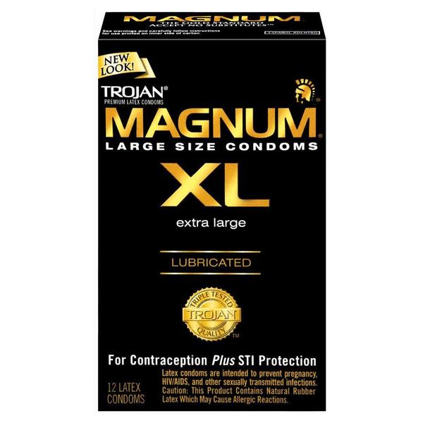 Trojan Magnum XL Lubricated Condoms (Pack of 12) 19790138