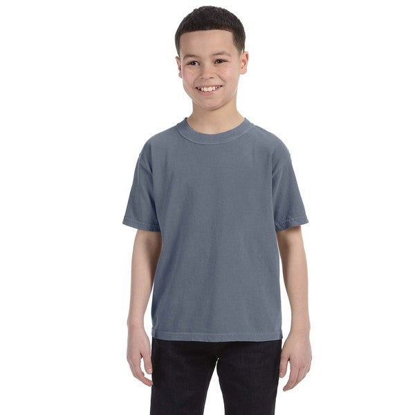 Boys' Denim Cotton Garment-dyed Ring-spun T-shirt