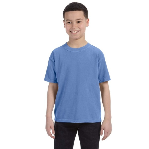 Boys' Flo Blue Ringspun Cotton Garment-dyed T-shirt