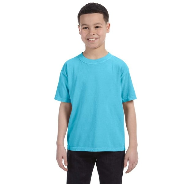 Boys' Lagoon Blue Garment-dyed Ring-spun Cotton T-shirt