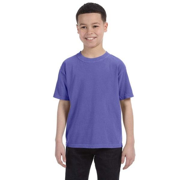 Boys' Periwinkle Garment-dyed Ringspun Cotton T-shirt