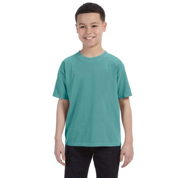Boys' Garment-dyed Seafoam Ring-spun Cotton T-shirt