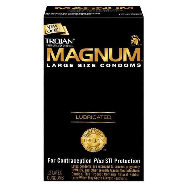 Trojan Magnum Lubricated Condoms (Pack of 12)
