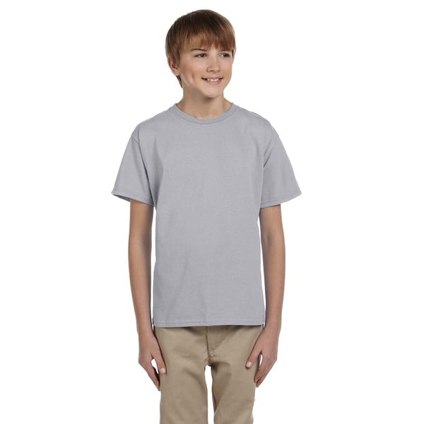 Fruit Of The Loom Boys' Heather Heavy Cotton Athletic T-Shirt