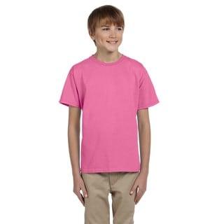 Fruit Of The Loom Boys' Heather Azalea Heavy Cotton T-shirt
