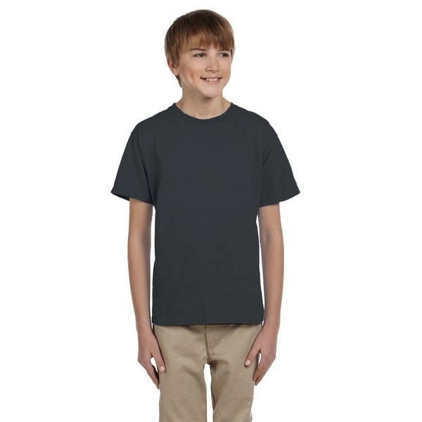 Fruit Of The Loom Boys Black Heavy Cotton T-shirt