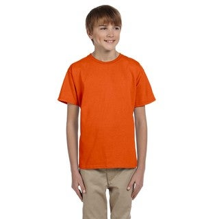 Fruit Of The Loom Boys' Burnt Orange Heavy Cotton Heather T-shirt