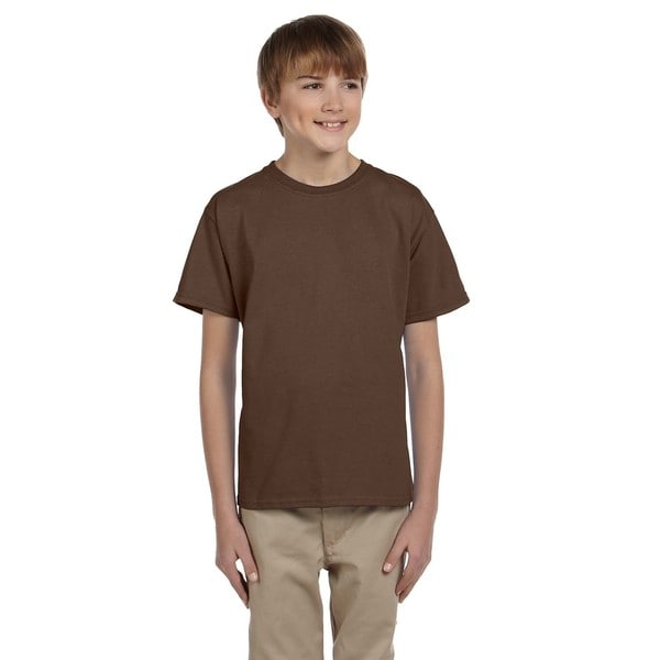 Fruit of the Loom Boys Brown Heavy Cotton T-shirt