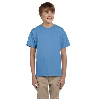 Fruit Of The Loom Boys' Columbia Blue Heavy Cotton Heather T-shirt