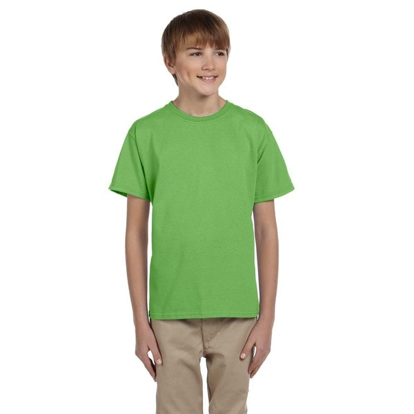 Fruit of the Loom Boys' Kiwi Heavy Cotton Heather T-shirt
