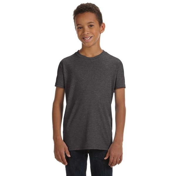 For Team 365 Dark Grey Performance Short-sleeve Boys' T-shirt