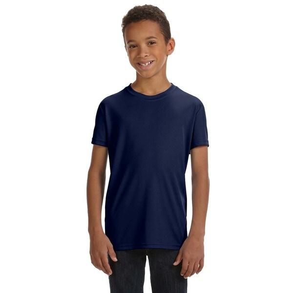Boys' Team 365 Performance Sport Navy Polyester Short-sleeve T-shirt