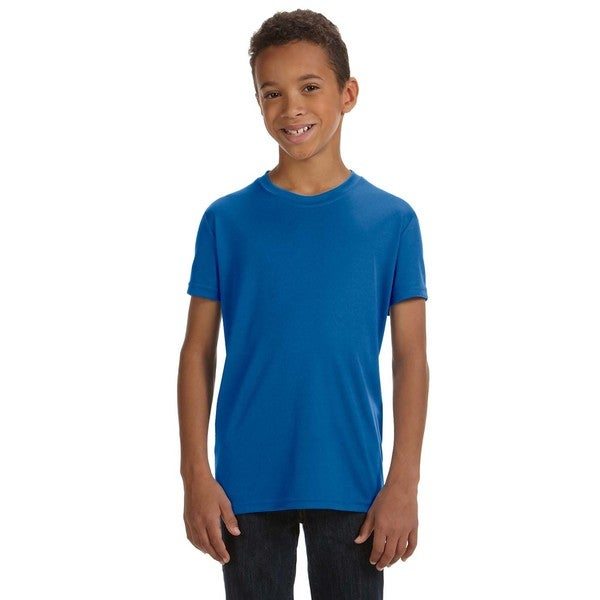 For Team 365 Boys' Royal Blue Performance Short-sleeve Sport T-shirt