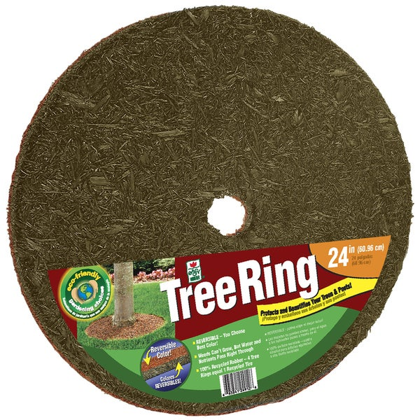 Easy Gardener TR24912-30 24 Inches Red & Brown Tree Ring 19791180