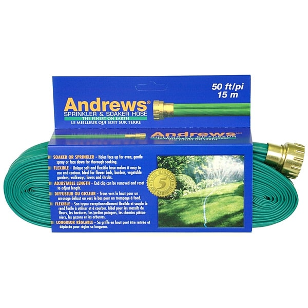 Andrews 10-12348 50 feet 2 Tube Sprinkler & Soaker Hose