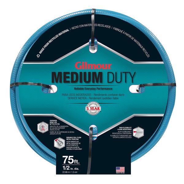 Gilmour 15012075 1/2 inches x 75 feet 4 Ply Medium Duty Garden Hose