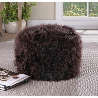 Mendelino Brown Plushy Soft Ottoman